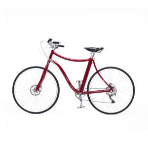 e-bike stella uomo rosso metallizato - metallic red men's e-bike